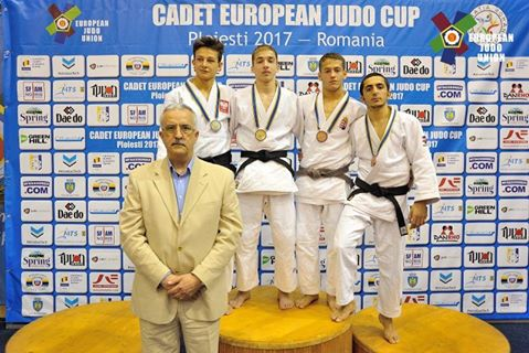 Cadet European Judo Cup Ploiesti Srebro Tomasza Zielskiego