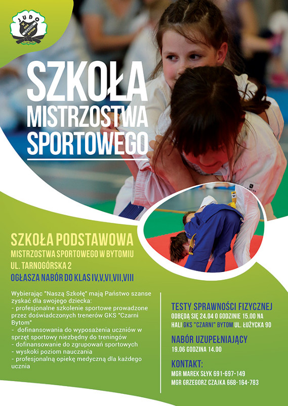 Nabór do Szkoły Podstawowej Mistrzostwa Sportowego w Bytomiu