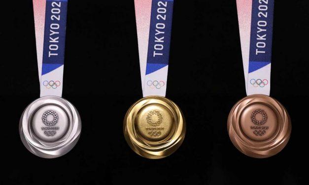 Olimpijskie medale Tokio 2020 wykonane z 80 000 ton telefonów komórkowych z recyklingu, elektroniki